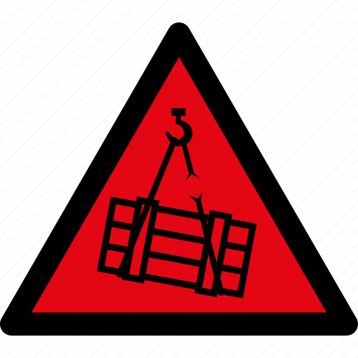 attention, caution, danger, hazard, load, suspended, warning icon