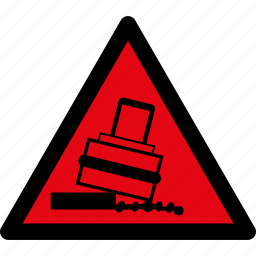 attention, caution, danger, hazard, rolling, tilting, warning icon