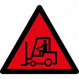 attention, caution, danger, lift, loader, truck, warning icon