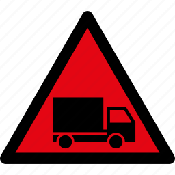 attention, caution, danger, hazard, lorry, truck, warning icon