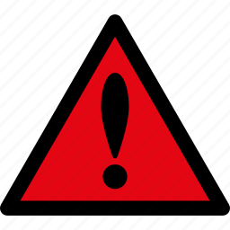 attention, caution, danger, exclamation, hazard, problem, warning icon