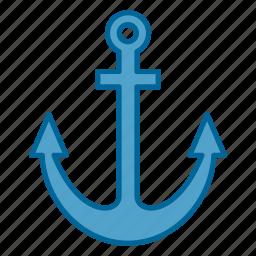 anchor, boat, nautical, ocean, sea, ship, water icon