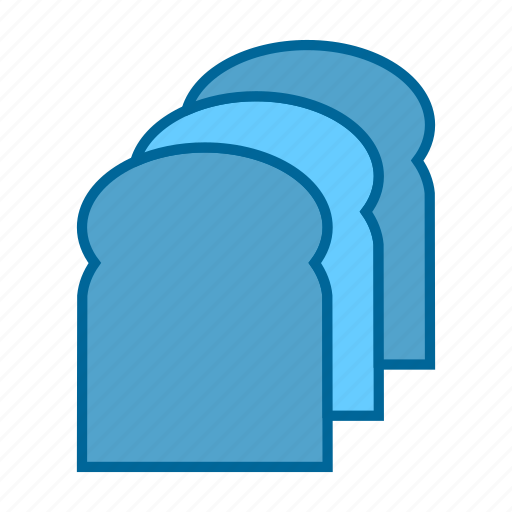 bakery, bread, breakfast, food, hunger, meal, toast icon