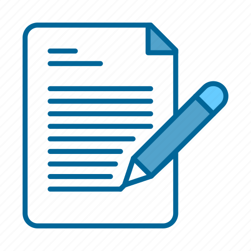 briefing, document, file, paper, pencil, proposal, writing icon