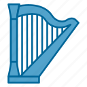 classical music, harp, instrument, instruments, music, song, strings icon