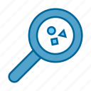 google, magnifying glass, search, seo, web, zoom icon