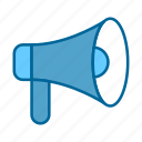 advertising, business, communication, internet, marketing, megaphone, network icon
