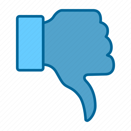 dislike, facebook, finger, reaction, social network, thumbs, thumbs down icon