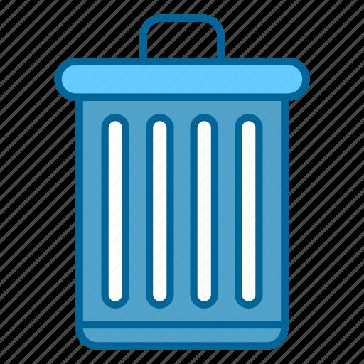 bin, delete, recycle, trash, trash bin, trash can, waste icon
