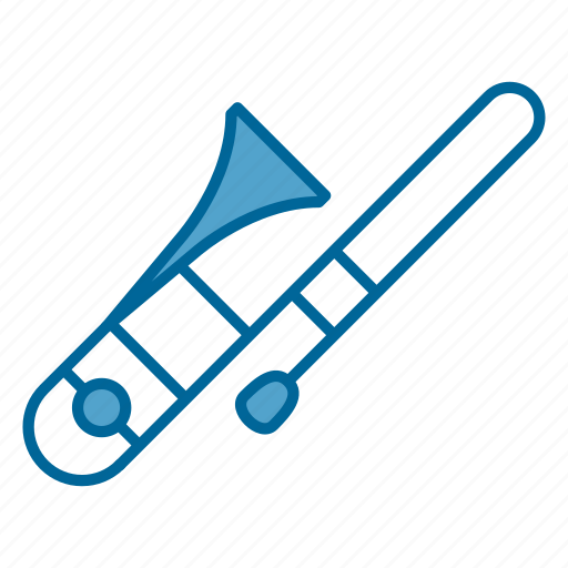 instrument, music, orchestra, song, trombone, wind instrument, woodwind icon