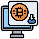 bitcoin, cash, coin, money, shopping icon