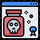 commerce, poison, shopping, venom icon