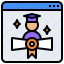 certificate, contract, diploma, file, qualification icon