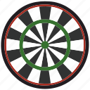 game, colored, board, darts, play, sport icon