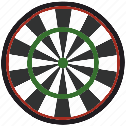 board, colored, darts, game, play, sport icon