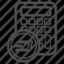 account, calc, dash, price icon