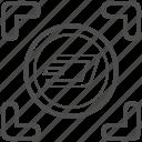 bill, cash, dash, money icon