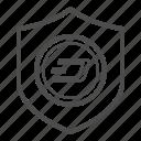 dash, guarantee, safe, security icon
