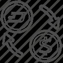 bill, cash, dash, money, transfer icon