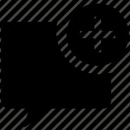 add, bubble, message, new icon