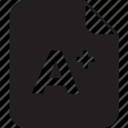 a, card, result, school icon