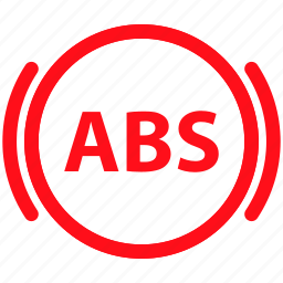 abs, automobile, brake, car, garage, vehicle icon