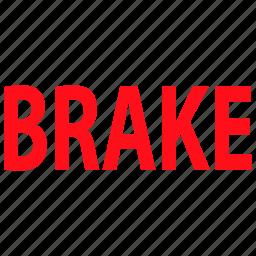 brake, car, garage, parking, service icon