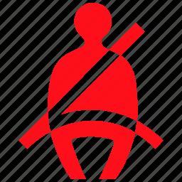idea, light, protection, reminder, seatbelt, security, shield icon