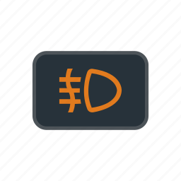 bulb, electric, fog, front, lamp, light, table icon