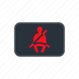 car, lamp, light, reminder, seatbelt icon