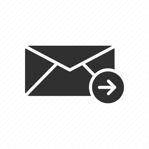 email, letter, message, sending mail icon