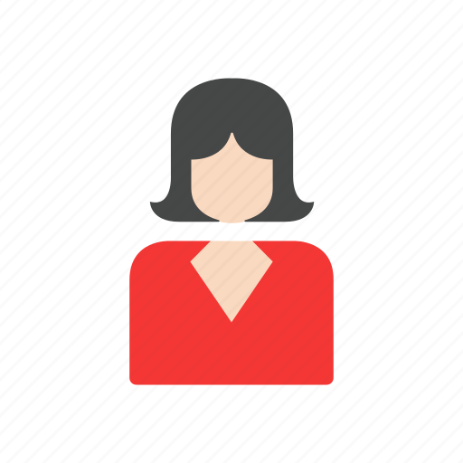 corporate, employee, female, profile, woman icon