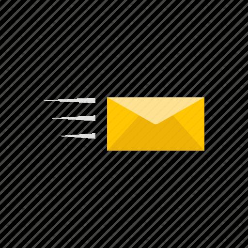 envelope, letter, mail, sending mail icon