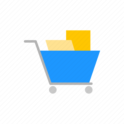 cart, grocery, push cart, shopping icon