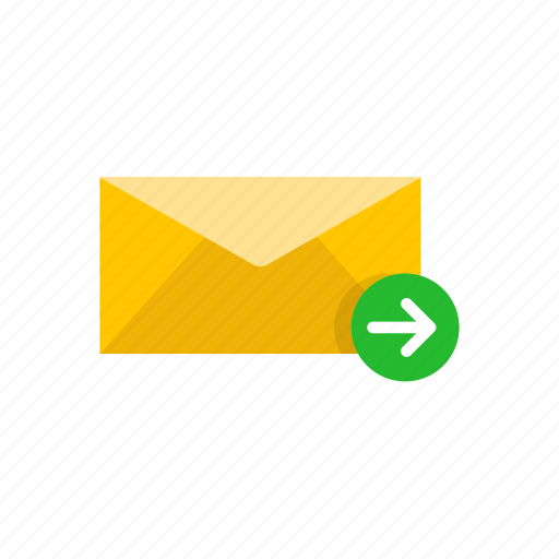 envelope, letter, send letter, sending message icon