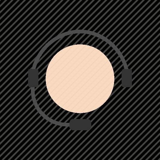 avatar, call, call center, headset icon