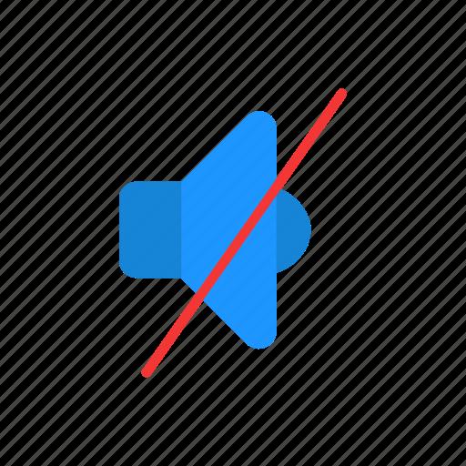 audio, mute, no sound, speaker icon