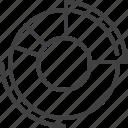 chart, diagram, doughnut, pie icon