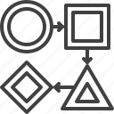 arrows, flow, organization, workflow icon