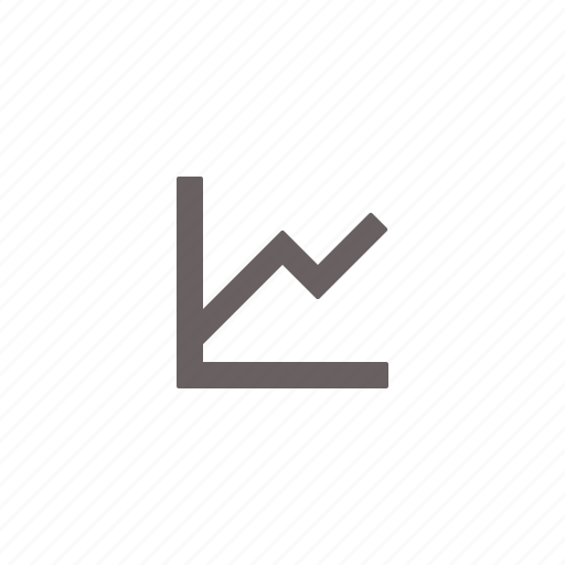 data, diagram, finance, flat, graph, trend icon