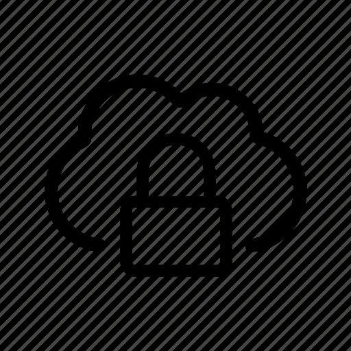 cipher, cloud, guard, lock, safe icon
