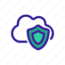 cloud, guard, safe, security, shield icon
