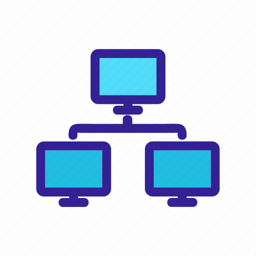 computers, connection, internet, network, structure icon