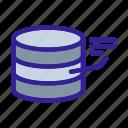 analytics, center, data, disk, network icon