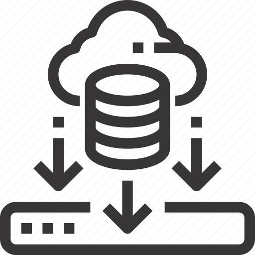 cloud, data, database, download, server icon