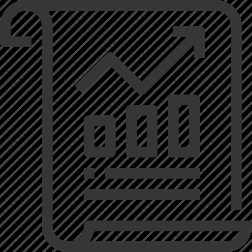 analytics, arrow, data, document, graph, report, seo icon