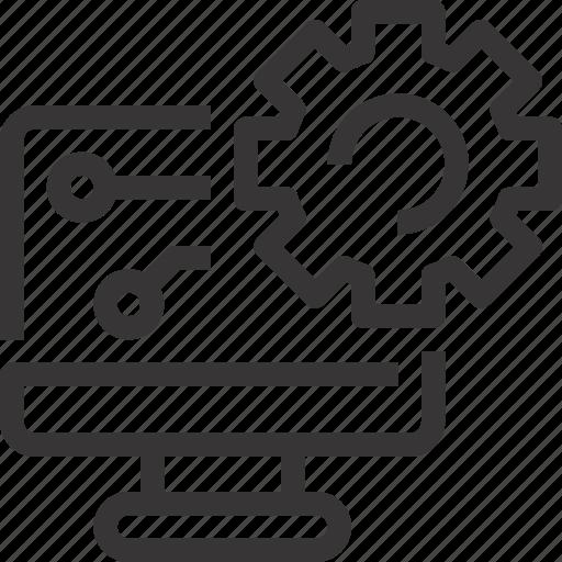 computer, develop, development, management, setting icon