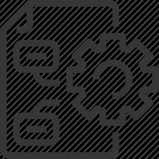 analysis, analytics, data, database, management, process icon