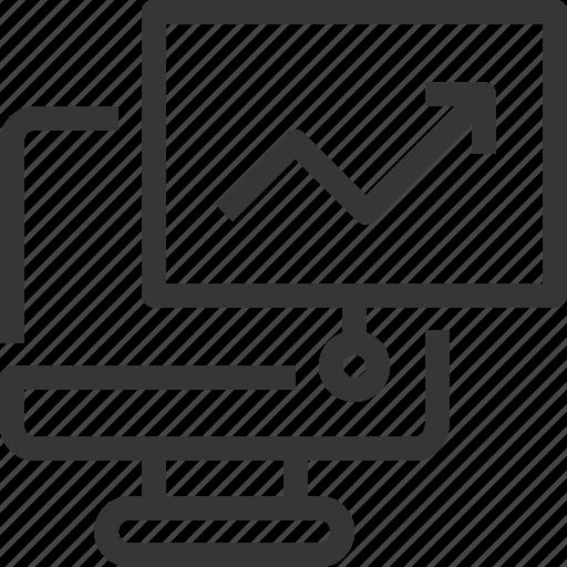 business, computer, present, presentation, report icon