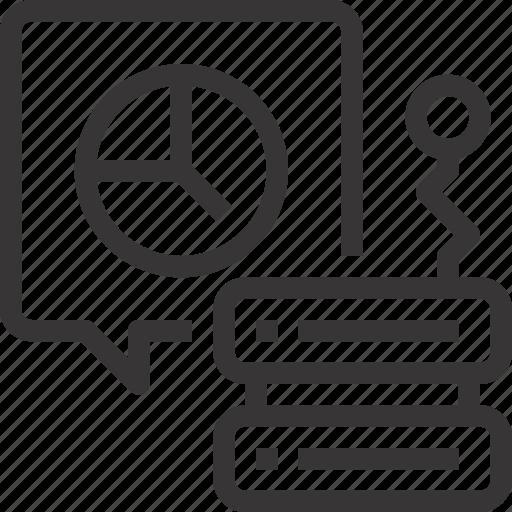 analytics, charts, data, database, report, server icon